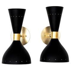 Black Stilnovo Style Sconces