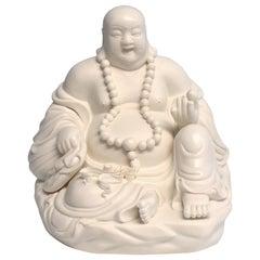 Blanc De Chine De Hua Porcelain Happy Buddha