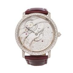 Blancpain Villeret 18K White Gold Diamond 6619-400-55B Wristwatch