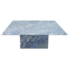 Blue Granite Coffee Table, 1970s Stone, Marble