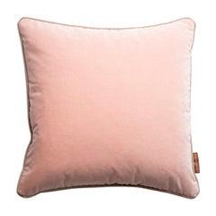 Blush Stuart Scott Pink Cotton Velvet Cushion