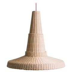 Bottega Intreccio Woven Wicker Caratterim Cocolla Pendant Lamp, by M. Bernabei