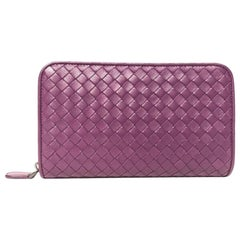 Bottega Veneta Purple Zip Wallet