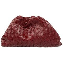 Bottega Veneta The Pouch Red Leather Clutch Purse Handbag