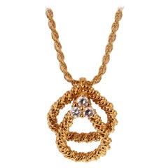 Boucheron Vintage Diamond Gold Necklace