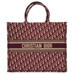 Brand New Christian Dior Book Tote bag GM in burgundy Monogram canvas
