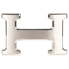 Brand new Hermes Constance brushed silver Belt Buckle !
