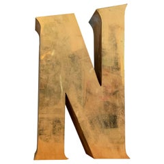 Brass Marquee Letter N
