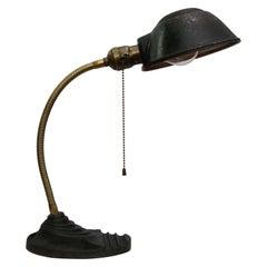 Brass Metal Vintage Industrial Cast Iron Table Desk Light