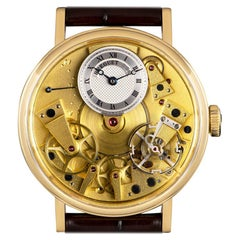 Breguet Tradition Yellow Gold Champagne Open Worked Dial 7037BA/11/9V6 Watch