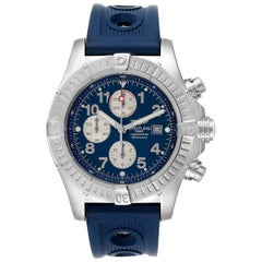 Breitling Aeromarine Super Avenger White Dial Rubber Strap Watch A13370