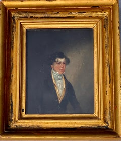 Early Victorian English / British 19th century Portrait of a young man