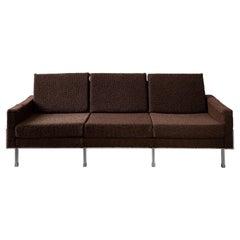 Brown Mid-Century Modern Three-Seat Sofa