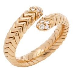 Bulgari 18 Karat Yellow Gold Serpenti Diamond Ring