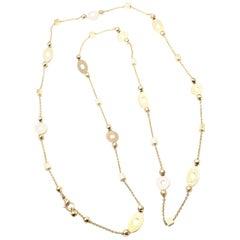 Bulgari Long Link Yellow Gold Chain Necklace