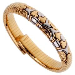 Bulgari Parentesi Yellow Gold Cuff Bangle Bracelet