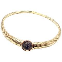 Bulgari Tubogas Monete Ancient Coin Yellow Gold Necklace