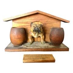 Bulldog and Kennel Humidor Cover, Estate of Jerry Terranova