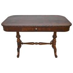 Burled Mahogany Biedermeier Table/Writing Desk, circa 1900