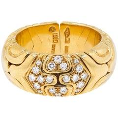 "Bvlgari ""Alveare"" Diamond Gold Ring"
