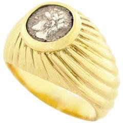 Bvlgari Antique Coin Monete Ring 18 Karat Yellow Gold US 3 1/4