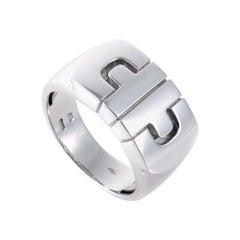 Bvlgari Parentesi 18 Karat White Gold Ring