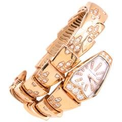 Bulgari Serpenti Bracelet/Wristwatch Mother of Pearl and Diamond