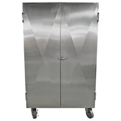 Cabinet in Stainless Steel by Sergio & Monique Savarese of Dialogica, NYC 1990s