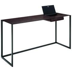 Calamo Desk in Black by Gabriele Rosa