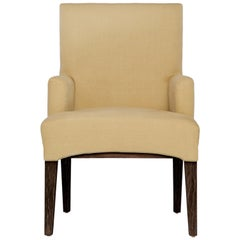 Capistrano Dining Armchair in Chocolate & Onyx Finish by Badgley Mischka Home