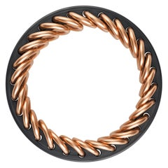 Carbon Fiber and 18 Karat Rose Gold Snakebone Men's Band