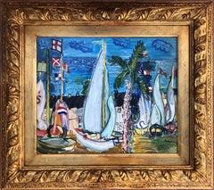 Puerto Banus Marbella Spain original acrylic painting seascape
