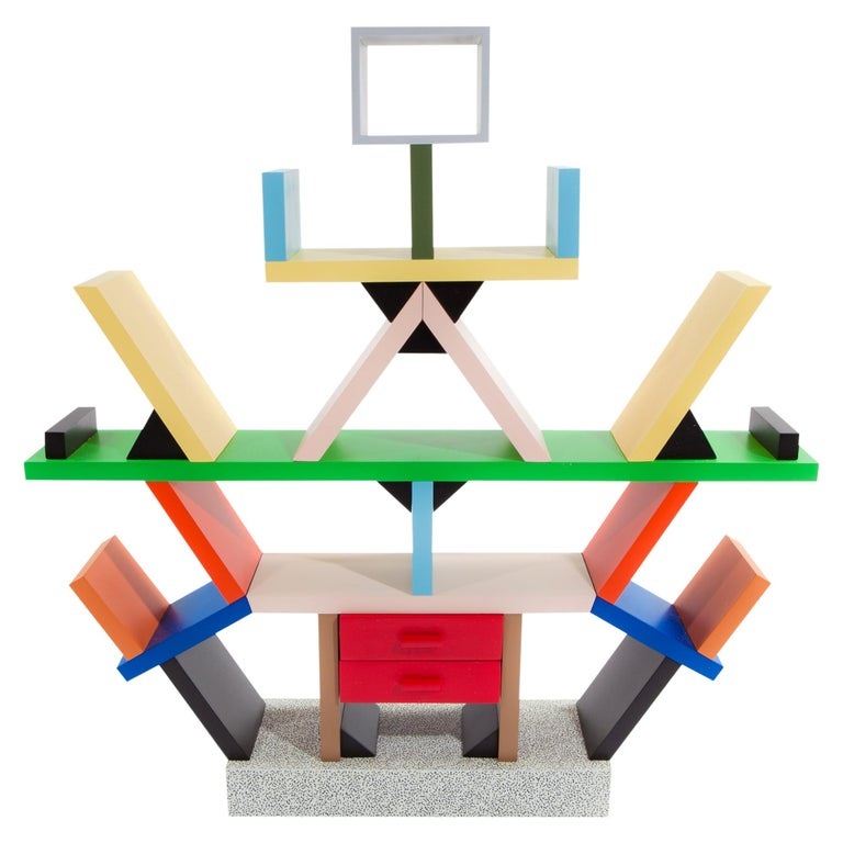 Carlton Wood Room Divider, by Ettore Sottsass from Memphis Milano For Sale