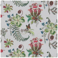 Carolina Natural in Cream Tropical Botanical Wallpaper