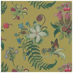 Carolina Posies in Cornbred Tropical Botanical Wallpaper