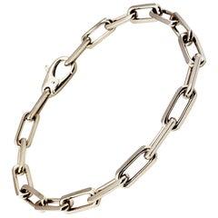 Cartier 18 Karat White Gold Link Bracelet