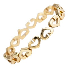 Cartier 18 Karat Yellow Gold C Heart Bracelet