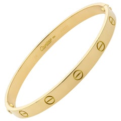 Cartier 18 Karat Yellow Gold Love Bracelet Old Style