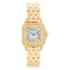 Cartier 18 Karat Yellow Gold Panther Ladies Watch WF3254B9 1280