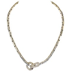 Cartier Agrafe Necklace with Diamonds in 18 Karat White Gold