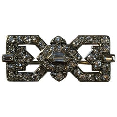 Cartier Art Deco Diamond Bow Brooch in Platinum
