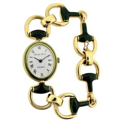 Cartier by Bueche Girod Yellow Gold Enamel Manual Wind Watch, circa 1970s