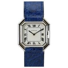 Cartier Ceinture 18 Karat White Gold Collectible Wristwatch, circa 1975