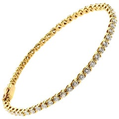 Cartier Diamond Tennis Bracelet Yellow Gold
