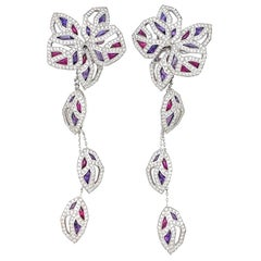 "Cartier Earrings ""Caresse d'Orchidées"" Collection, Diamonds, Tourmaline Amethyst"