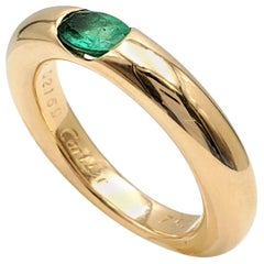Cartier 'Ellipse' Gold and Emerald Ring