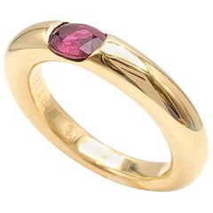 Cartier 'Ellipse' Gold and Ruby Ring