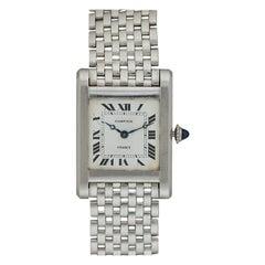 Cartier France Platinum Tank Normale Wristwatch circa 1940s