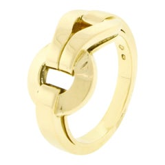 Cartier Gold Agrafe Ring