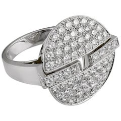 Cartier Himalia Diamond White Gold Ring